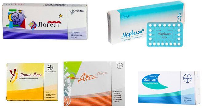 Основные противозачаточные препараты, которые назначают для лечения аденомиоза – это Регулон, Жаннин Джес, Ярина, Марвелон, Логест