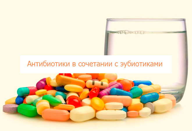 Антибиотики в сочетании с эубиотиками