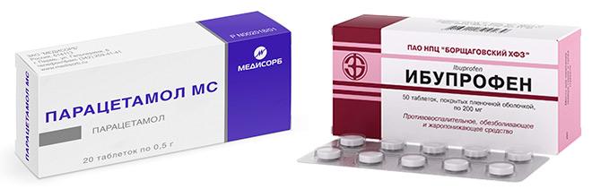 Парацетомол и ибупрофен